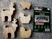 Vitg Westrim Country Collection 5 Unfinished Pre-cut Wood Candle Holders