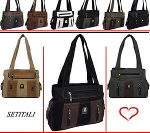 Neu-Damentasche-Schultertasche-Handtasche-Shopper-Tragetasche-BE15107