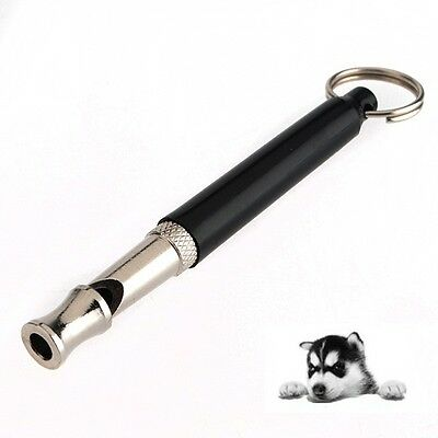 Pet Dog Training Obedience Whistle UltraSonic Supersonic Sound Pitch Black Quiet
