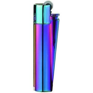 NEW-100-Authentic-Clipper-Refillable-Metal-Purple-Lighter-2-Year-Warranty