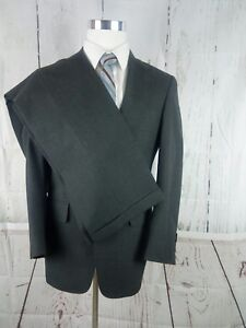 Austin Reed Of Regent Street Ayrshire 37s 2 Button Charcoal Gray 2pc Suit 28x31 Ebay