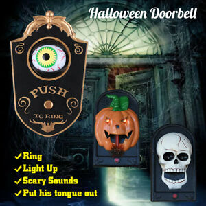 Halloween-Doorbell-Decor-Pumpkin-Skull-Haunted-Houses-Party-Supplies-Scary-Toy