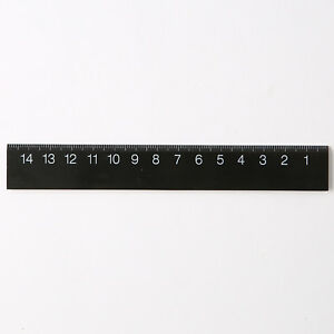 Aimable Moma Muji Abs Ruler Black 150mm Can Mesure Both Sides F/s From Japan Un Style Actuel
