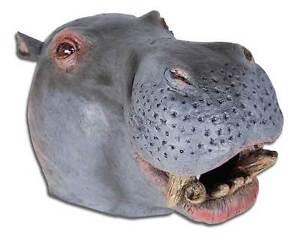 De Luxe Hippopotame Masque Costume Animal Africain Zoo Déguisement
