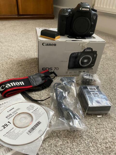 Canon 7D II 20.0 MP Corps Uniquement Caméra, boîte d'origine,