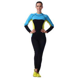ec852582fc Women Wetsuit Full Body Thermal Winter Swim Kayak Jet Ski Surf Scuba ...