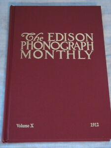 Scarce Edison Phonograph Monthly Collector Book #10 NEW