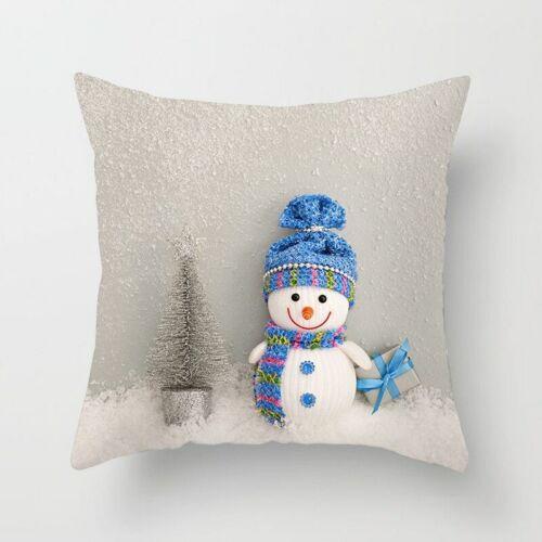 Snowman Cushion Throw Pillow Sofa Cover For Christmas and ThanksgivingHome