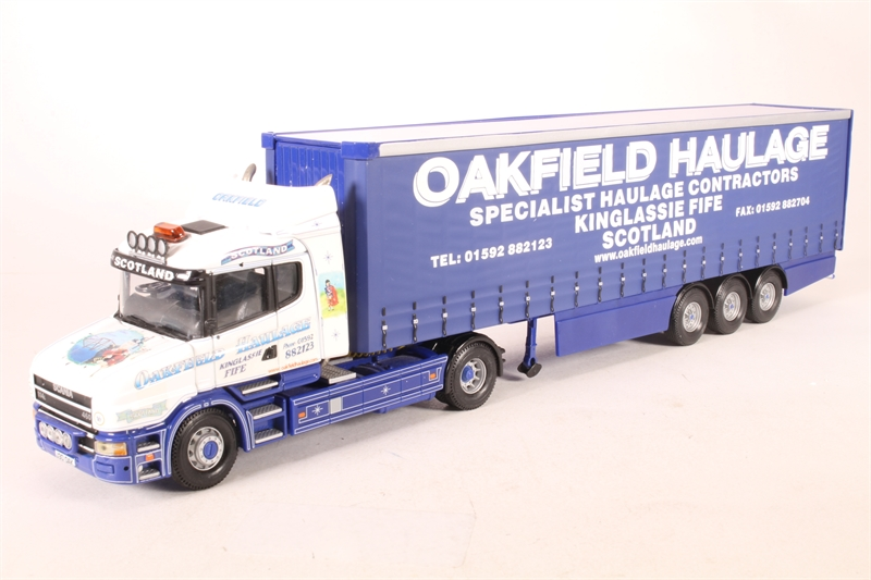 CORGI MODERN Heavy CC12811 Scania T Cab Curtainside OAKFIELD échelle 1 50