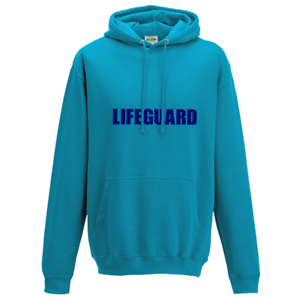 Back Printed Style Bondi Rescue Lifeguard Adults Hoodie Surf Blue Front