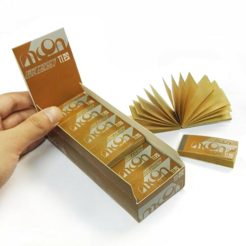 24 booklets of MOON Unbleached Rolling Paper Filter Tips 1200 sheets totally