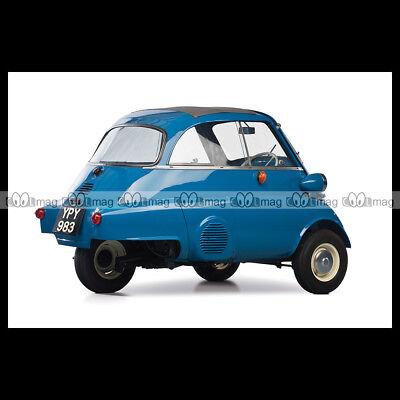 #pha.000333 Photo BMW ISETTA 1965 DEUTSCHE POST BUBBLE CAR MINICAR MICROCAR Auto