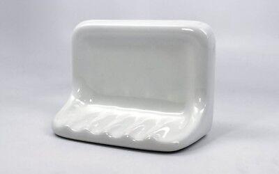 "Bath Accessory Shower Soap Dish White Ceramic Thinset Mount 6-1//2/"" x 4-7//8/"""