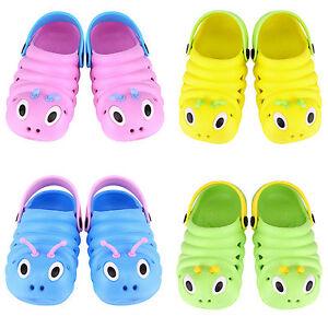 Kids-Boys-Girls-Slip-On-Summer-Beach-Sandals-Flat-Casual-Clogs-Pumps-Shoes-Size