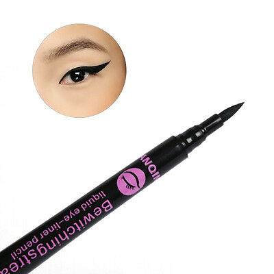 Neu Schwarz Flüssiger Eyeliner Kajalstift Augen Liner Damen Wasserfeste