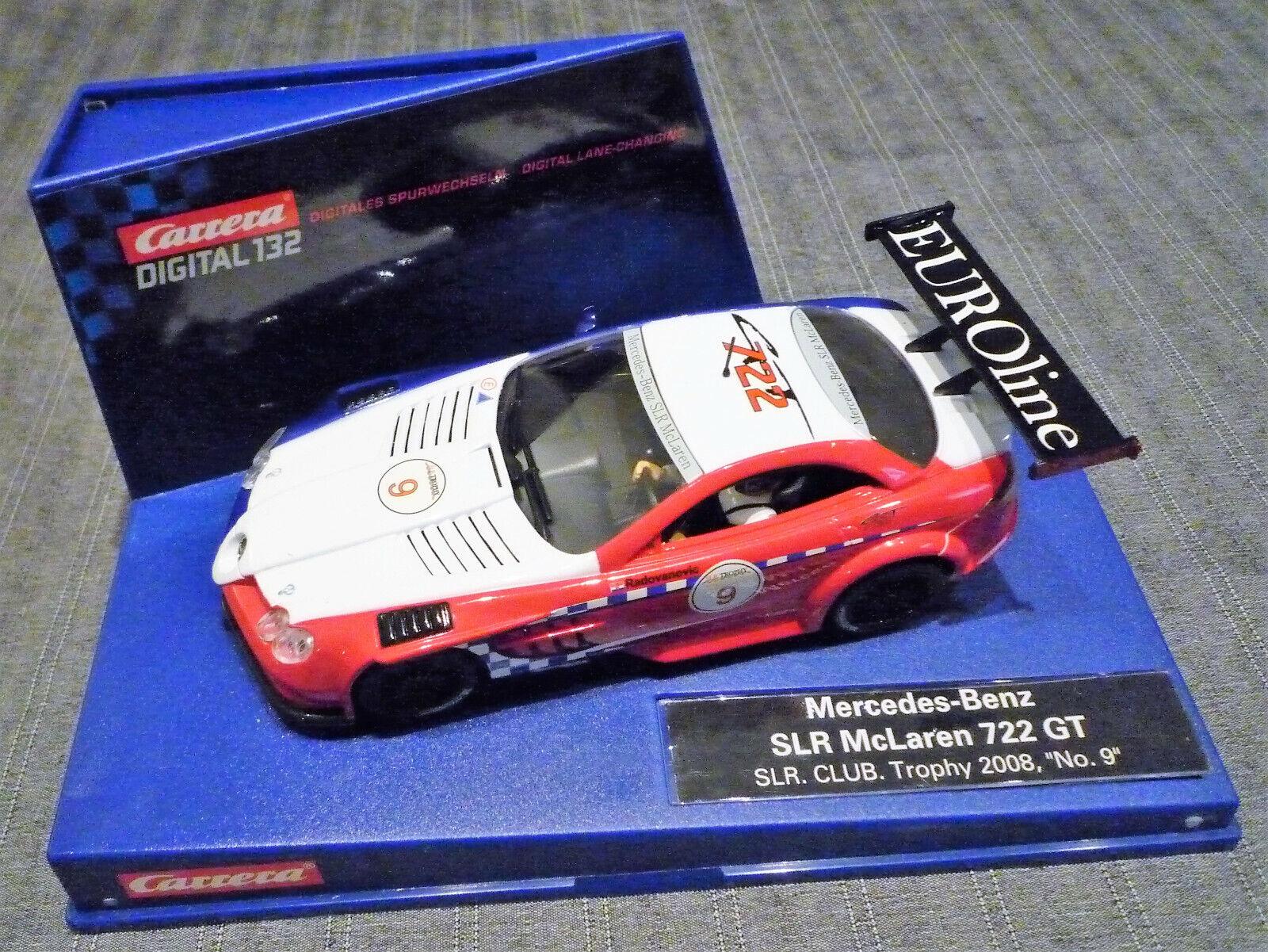 Carrera Digital 132 - Mercedes-Benz SLR McLaren 722GT - SLR CLUB Trophy 2008 No9