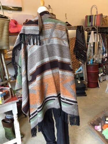 Couleurs Poncho Ouest Cape Aztèque Couverture Kiboots Multi Boon Rembourré Enveloppement Sud R6qgf
