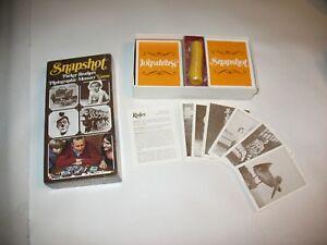 1y Vintage Parker Bros Snapshot Jeu de mémoire photographique complet 1972!