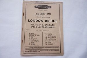 1961-Carriage-Working-Notice-Platform-Working-Ralway-Timetable-Southern-Region