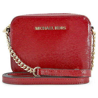 Michael Kors Jet Set Travel Crossbody Bag - Scarlet