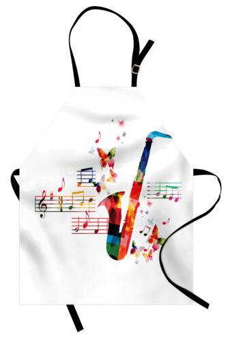 Musik Kochschürze Saxophon mit Schmetterlingen Waschbar Farbfest