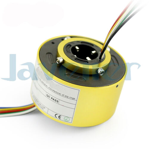 5-60mm Hole 6//12 Wire 2//5//10A 250Rpm Capsule Slip Ring Monitor Robotic Metal