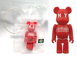 new~ Medicom Manhattan Portage 100% Be@rbrick Bearbrick RED Colour figure