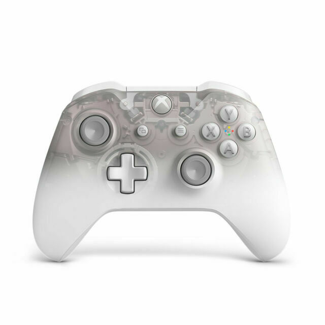 Microsoft Wl3 00120 Xbox One Wireless Controller Phantom White For Sale Online Ebay