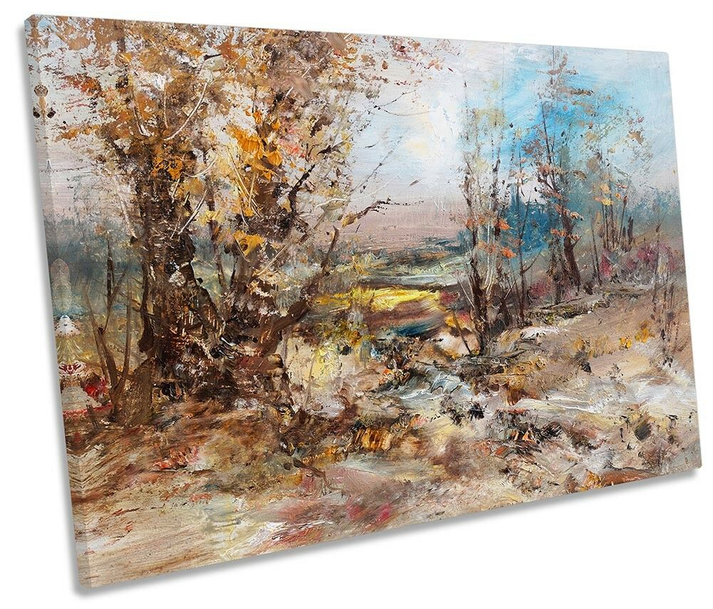 Gli Alberi Paesaggio Astratto REPRO incorniciato Tela Singola Stampa Wall Art