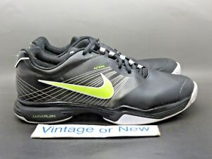 f57cfa4c3961 Women s Nike Lunar Speed 3 Black White Volt Tennis Shoes 429999-007 ...