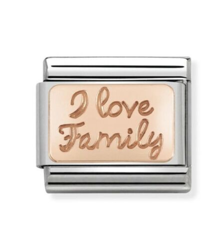 Nomination Encanto Rosa Dorado I Love familia RRP £ 20
