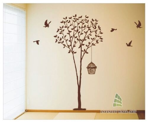 Wall Stickers Tree Flower Kids Art Murals Decals Butterfly Home Vinyl Decor-P363