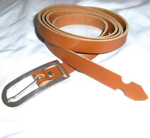 Kohfino cintura da donna lungo cintura in pelle cognac 1,5 CM x 140 cm