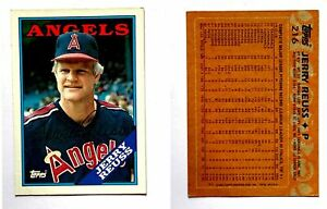 Jerry-Reuss-Signed-1988-Topps-216-Card-California-Angels-Auto-Autograph
