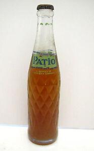 1964 PATIO Orange 10 oz Full Soda Bottle Pepsi Cola -ACL Label | eBay