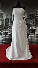 Eternity Bridal Gown with Train (White-Size 12) Wedding, Theatre etc