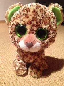 Uni Ty Beanie Boos Glubschis Speckles Plush-leopard Environ 22 Cm-animal En Peluche Plüschti-afficher Le Titre D'origine