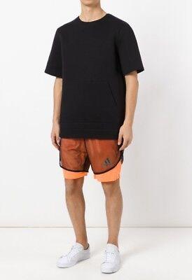 2019 Ultimo Disegno Adidas By Kolor Rara Scaldamuscoli Pantaloncini Neon Arancio Nero- Rapida Dissipazione Del Calore