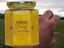 Orange Citronella (Mosquito Repellant) Scented Blended Soy Candle for INDOOR Use