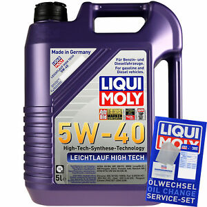 5L-Original-Liqui-Moly-Leichtlauf-High-Tech-5W-40-Motoroel-Engine-Oil