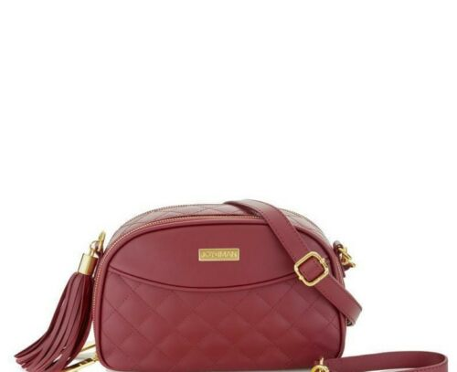 Joy /& Iman Quilted Leather Crossbody Defects SEE COLORS RFID w 1 Strap READ