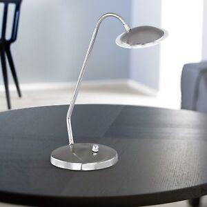 Wofi-LED-Tischleuchte-Twin-Nickel-Glas-Flexarm-Dimmer-4-6-Watt-400-Lumen-Lampe