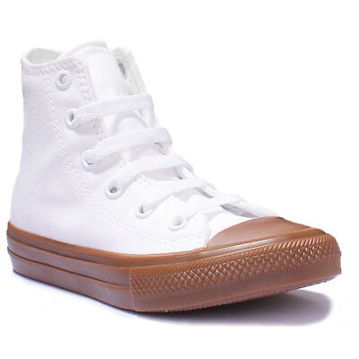 Converse Chuck Taylor All Star High Top White Junior Canvas Trainers