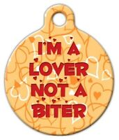 I'm A Lover - Custom Personalized Pet Id Tag For Dog And Cat Collars