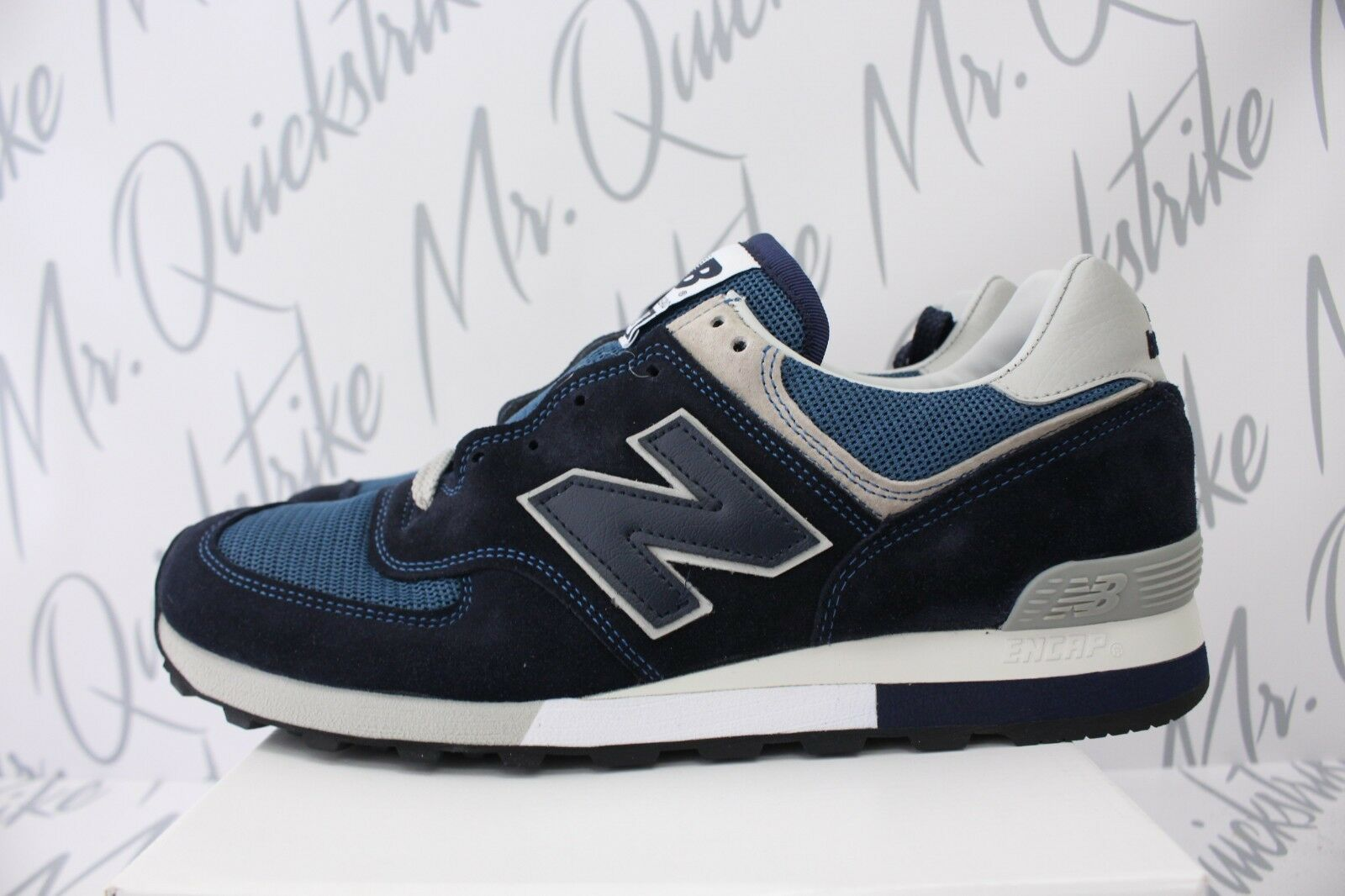 NEW BALANCE 576 MADE IN UK SZ 9 NAVY GREY OM576OGN