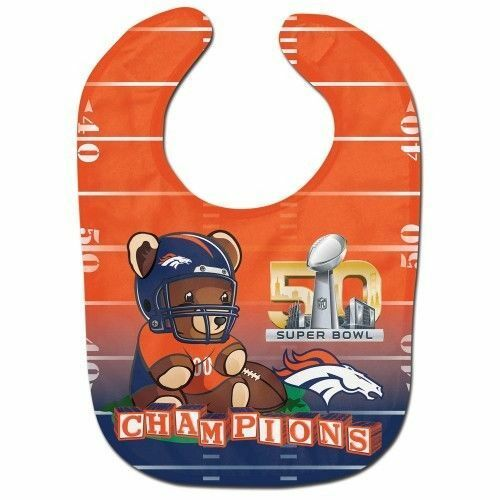 NFL Denver Broncos Super Bowl 50 champions Baby Feeding Bib Infant Douche