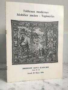 Catalogue Di Vendita Lavagna Moderno Mobili Antico Sala N° 12 25 Mars 1976