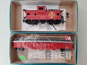Details about 5) LOT HO SCALE MODEL TRAINS ATHEARN 5367 1661 CABOOSE &  BURLINGTON HOPPER KITS