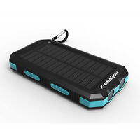 Solar Power Bank 300000mAh 2USB Portable External Battery Charger For Cell Phone