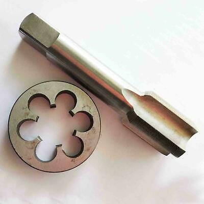 New1pc HSS Machine M17 X 1mm Plug Tap and 1pc M17 X 1mm Die Threading Tool